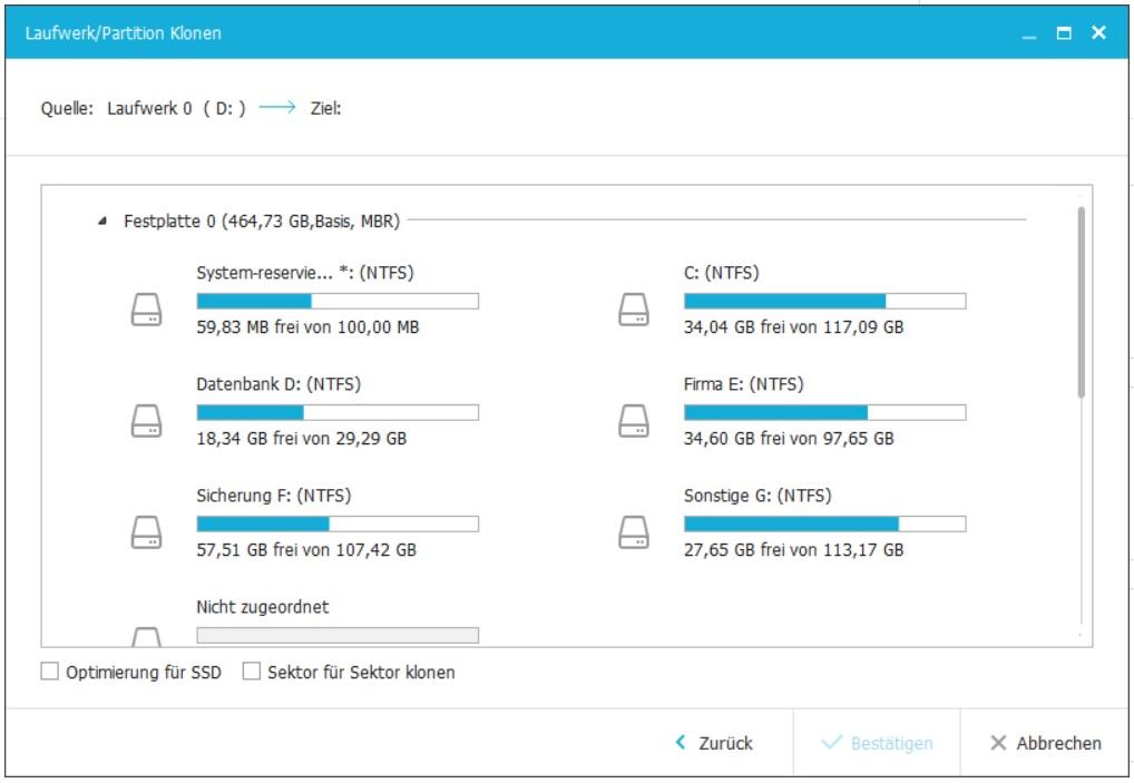 Windows Systemsicherung über die externe USB Festplatte