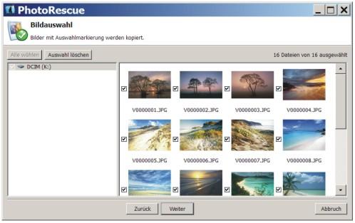 Fotos wiederherstellen mit PhotoRescue.