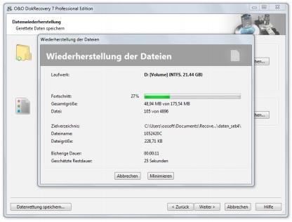 Gelöschte Daten von Festplatte Wiederherstellen