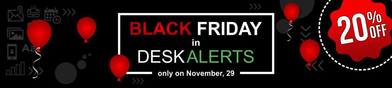 DeskAlerts Black Friday Communication