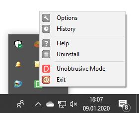 DeskAlerts Unobtrusive Mode Option