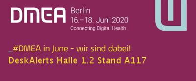DeskAlerts auf der DMEA Berlin 2020