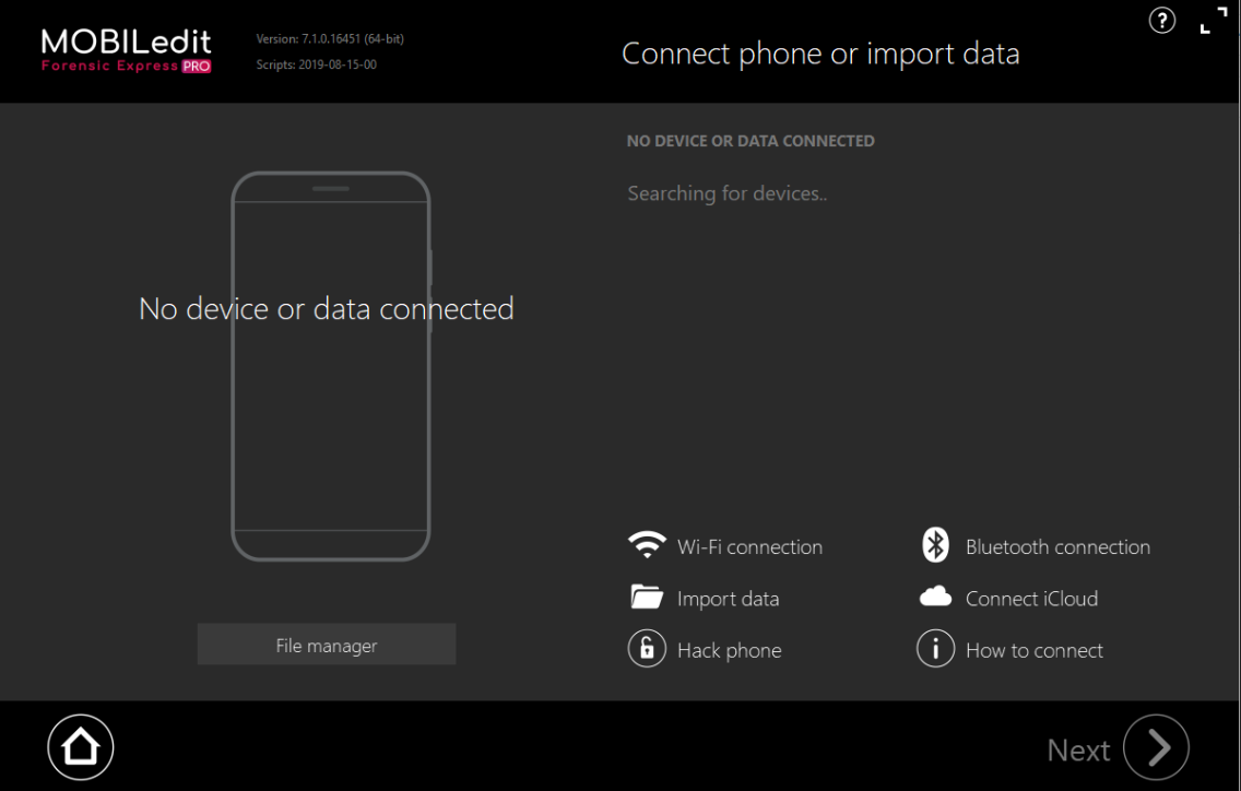 Mobiltelefon Analyse mit MOBILEdit Forensic Express