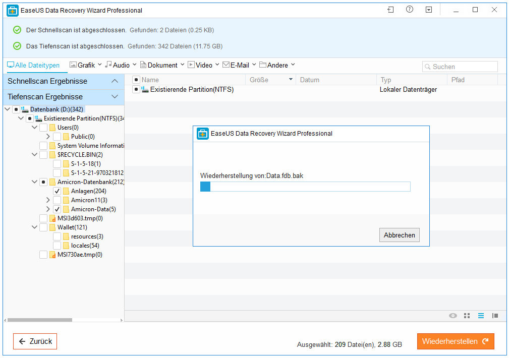 Anleitung Data Recovery Wizard 2